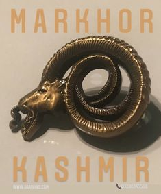 """Markhor Kashmir Spiral 3d Metal Badge 2100 Whatsapp 03338345558 """"Killing RAW Snakes"""" Markhor Kashmir Saariya's Markhor Kashmir Lapel Pin ! Yes you can wear it on a waistcoat , Jacket , Cap , Coat or any Attire .Extreme 3D made in Metal Markhor is the national animal of Pakistan. 'Unverified legends' from centuries reveal that Markhor defends from bad,evil omen.It was notorious to Hunt down Snakes and Kill them by biting the head off , and this is how it got its name : Mar - Snake , Khor… National Animal, Pin Badges, Snakes, Lapel Pins, Spiral, Pakistan, Legends, Cap, Jacket"""