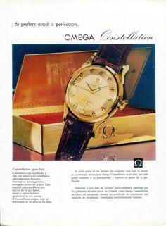 1958 Omega Constellation Watch Advert Omega Seamaster Vintage 1950s Print Ad • £38.45 - PicClick UK