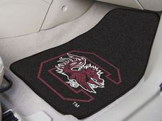 "University of South Carolina 2-pc Carpet Car Mat Set 17"""" X 27"""""