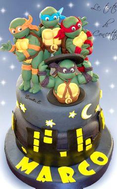 Teenage Mutant Ninja Turtles - Cake by Concetta Zingale Ninja Turtle Birthday, Ninja Turtle Party, Ninja Turtles, 4th Birthday, Birthday Cakes, Birthday Ideas, Fondant Cakes, Cupcake Cakes, Tmnt Cake