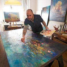 Les paysages fascinants de l'artiste Stev'nn Hall, qui mélange peinture et photographie dans des créations poétiques et colorées, qui rappellent les peintu