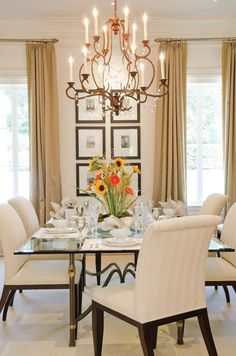 Formal Dining Room Designs the elegant abode li dining room glam dining room, crystal