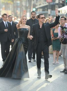 Brad and Angelina #leather