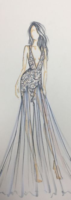 Fashion Design Sketches Of Dresses Fresh Berta 2017 Sketch Style 17 136 3 Imagination Fashion Art, Fashion Mode, New Fashion, Trendy Fashion, Fashion Trends, Bridal Fashion, Style Fashion, Cheap Fashion, Paris Fashion
