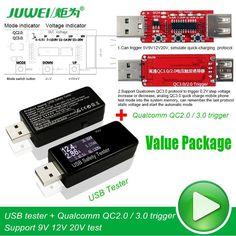 Digital Display DC USB Tester Current Voltage Charger Capacity Doctor power bank Battery meter Detector+qc2.0/3.0 Trigger