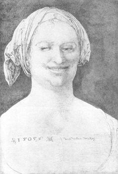 Laughing Peasant Woman 1505 Pen, 390 x 270 mm British Museum, London Hans Holbein, Rembrandt, British Museum, Albrecht Dürer, Lucas Cranach, William Turner, European Paintings, Gouache, Portraits