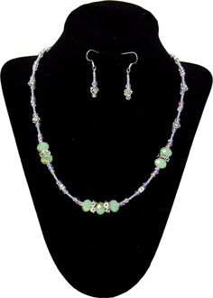Flower Pastels Necklace and Earrings - Click through for project instructions.
