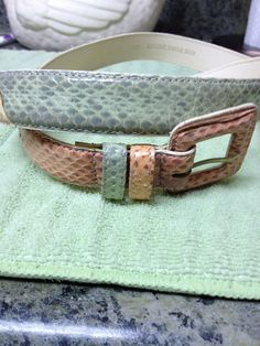 Vintage Leather Shop Multicolor Snakeskin and by Besshastyle, Sold