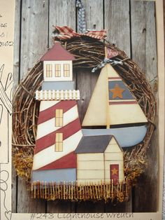 Pattern Packet: Lighthouse Wreath by Heart-N-Home Creations. $3,99, via Etsy.