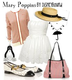 Great read on a Mary Poppins style! Love the dress... though it could be a tad longer for my legs. LOL and a smaller stripe sweater. :) disneybound.tumblr.com