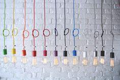 textilkabel designlampen im loft stil imindesign