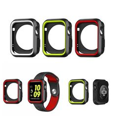 [US$4.99] Sports Dual Colors Silicone Protective Cover Case for Apple Watch iWatch 38/42mm  #3842mm #apple #case #colors #cover #dual #iwatch #protective #silicone #sports #watch