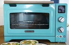 "KitchenAid 12"" Convection Digital Countertop Toaster Oven in Aqua Sky"