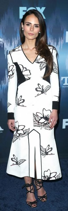Who made Jordana Brewster's white floral dress?