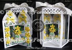 Daffodil Carousel Card & Box, SVG,MTC,SCAL,CRICUT,ScanNCut - £6.95 : Instant Card Making Downloads