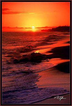 Waimea sunset, Hawaii. hawaiianforyou.com