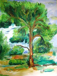 "Saatchi Online Artist Yaacov Shaki; Painting, ""Pine Tree"" #art"