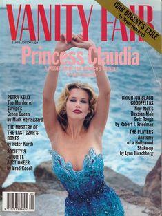Claudia Schiffer Vanity Fair US January 1993 by Helmut Newton Fashion Magazine Cover, Fashion Cover, Magazine Covers, Women's Fashion, Helmut Newton, Claudia Schiffer, Vanity Fair Magazine, Green Queen, Album