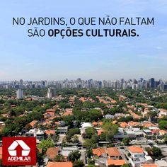 Região não oficial da cidade de São Paulo, os Jardins reúnem residências de alto padrão, lojas de grife e centros culturais que oferecem ampla programação aos moradores e visitantes: http://magicweb.me/fvI