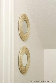 DIY Circle Mirror Sisal Rope Upcycle