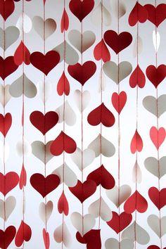 Cortina de corações                                                                                                                                                                                 Mais