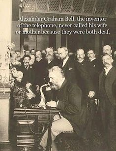 "First Telephone Call Alexander Graham Bell, inventor of the telephone, made the first call on March to his assistant, Thomas Watson: ""Mr. Watson--come here--I want to see you"" Picture:Alexander Graham Bell Speaking on the Phone in Alexander Graham Bell, Old Pictures, Old Photos, Funny Pictures, Fantasy Character, Telephone Call, Photo Souvenir, Great Inventions, We Are The World"