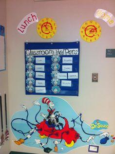Dr. Seuss classroom job board