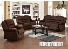 BAILEY Velvet Fabric Rock Reclining Sofa