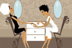 A Touch Above beauty salon provides manicure treatments in Vancouver, BC. Our Signature Manicure is a traditional beauty treatment and uses premium nail care products. Jewelry Illustration, Illustration Art, Nail Art Salon, Artist Logo, Beauty Boutique, Spa Party, Spa Treatments, Cute Couples Goals, Games For Girls