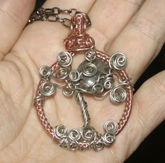 Tree of Life Woven Wire Wrapped Copper by groovychickjewelry, $59.00