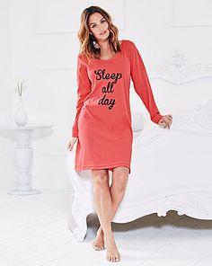 Pretty Secrets Long Sleeve Nightdress | Simply Be