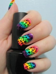 rainbow leopard!!!!! Yes I am gonna have to try this