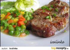 Opečený česnekový vepřový plátek recept - TopRecepty.cz No Salt Recipes, Meatloaf, Steak, Pork, Beef, Cooking, Kale Stir Fry, Meat, Kitchen