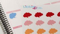 Rainbow Chat Cloud Life Planner Die-Cut Stickers by Libbieandco
