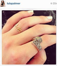 """Ring """" lula """"   Don't forget to post a picture of your own Thea jewel with the hashtag #Theajewelry"""