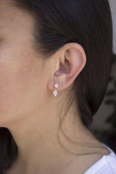 Items similar to Sterling Silver Tear Drop / Drop Earrings on Etsy Jewelry Design Earrings, Gold Earrings Designs, Gold Jewellery Design, Etsy Earrings, Drop Earrings, Rook Jewelry, Jewlery, Gold Earrings For Kids, Simple Earrings