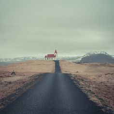 Chapel up the hill Iceland photography Northern by eisforeero