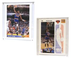 """New York Knicks Patrick Ewing 8""""x10"""" Upper Deck Blow-Up Card with Acrylic Display"""