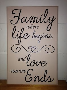 Familylove never ends phrase by KimKreates4you on Etsy