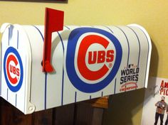 "CHICAGO CUBS MAILBOX ""WORLD SERIES CHAMPS""  BASEBALL FULL SIZED BOX         in Sports Mem, Cards & Fan Shop, Fan Apparel & Souvenirs, Baseball-MLB | eBay"
