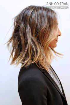 Le Fashion Blog Hair Inspiration Long Subtle Ombre Bob Sombre Lob Black Blazer Via Anh Co Tran