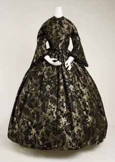 Silk dress, American, 1850s, Metropolitan Museum of Art