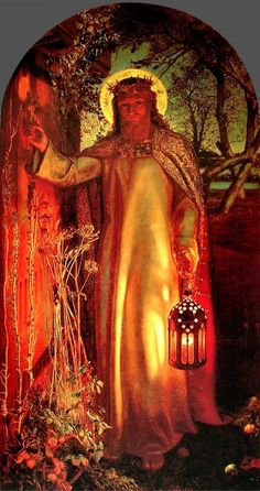 The Light of the World - Hunt, William Holman (British, 1827 - Fine Art Reproductions, Oil Painting Reproductions - Art for Sale at Bohemain Fine Art