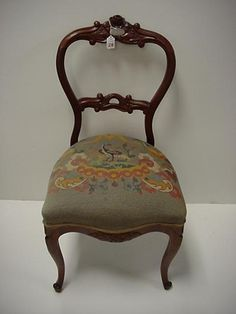 Image detail for -Rose Carved Open Balloon Back Victorian Chair: : Lot 28