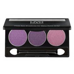 NYX Trio Eye Shadow - Purple/Deep Purple/Prune   £7.00 (FREE UK Delivery)  http://www.123hairandbeauty.co.uk/beauty-products-c5/eyes-c20/nyx-nyx-trio-eye-shadow-dune-p1535