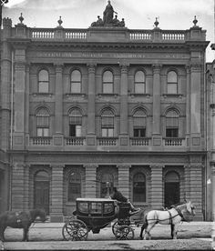 Australian Mutual Provident Society on 87 Pitt St,Sydney, between 1873 and National Library Australia Time In Sydney, Union Jack, Over The Years, Photo Art, Past, Sailing, Australia, History, City