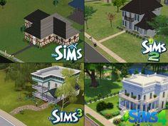 sims 4 casas - Pesquisa do Google - Evolução das casas nos sims