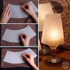 Como fazer Abajur de taças -  Passo a passo com fotos - How to make a lamp- DIY tutorial  - Madame Criativa - www.madamecriativa.com.br