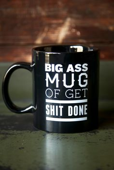 "Vegan recipe blog @ThugKitchen is doing its fans a solid by introducing apparel and other shoppable goods on its website. This Big Ass Mug ($12-$15) is something I want to give as a gift to myself and everyone I know. Why? The description sums it up best: ""We know you're too damn busy for refills. This is why we only f*ck with big ass mugs and you should too. Upgrade your cup's capacity and seize the goddamn day."""