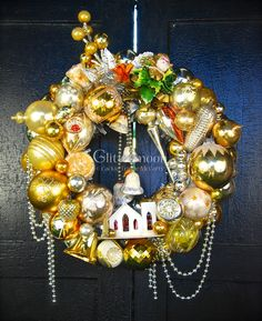Silver Bells Wreath ©Glittermoon Vintage Christmas 2016. Available at More & More Antiques, 378 Amsterdam Ave, NYC